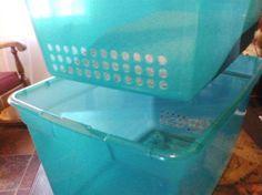 DIY side-sifting cat litter box Crazy Cat Lady, Crazy Cats, Diy Litter Box, Cat Hacks, Gatos Cats, Cat Room, Cat Furniture, Diy Stuffed Animals, Cat Life