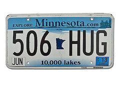 Amerikanisches Nummernschild Minnesota