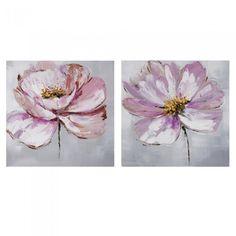 Tu tienda online de Decoración y regalo. Pareja Cuadros Flores Rosas - Decoración Productos funcionales y divertidos.