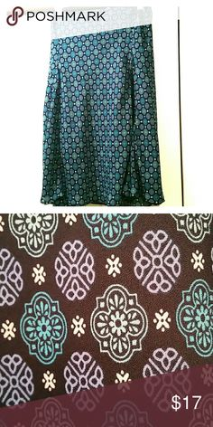 "Light weight skirt Blues and greens abound in the comfy flowy skirt.  28"" long with elastic waistband George Skirts Midi"