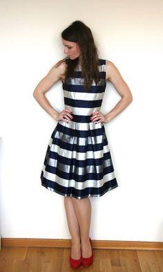 Fashion Insider TKMfeb3 TK Maxx Outfit für Februar: Metallic Streifen Wau Wau
