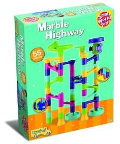 Small World Toys Preschool - Marble Highway Toy 55 Pc. Set