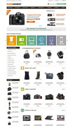 OpenCart SuperMarket Shopping Mall Theme