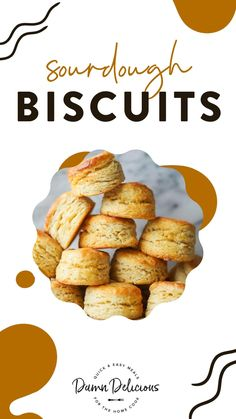 Damn Delicious Recipes, Yummy Food, Sourdough Biscuits, Bakery Recipes, Cooking Recipes, Clean Eating Breakfast, Biscuit Recipe, Side Dishes Easy, Quick Easy Meals