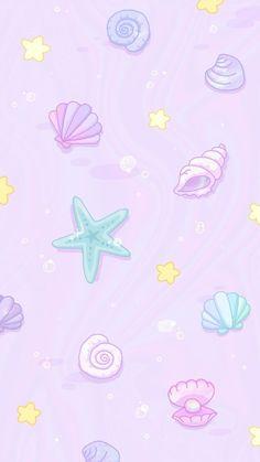 Mermaid Wallpaper Iphone, Unicornios Wallpaper, Mermaid Wallpapers, Cute Pastel Wallpaper, Disney Phone Wallpaper, Cute Patterns Wallpaper, Kawaii Wallpaper, Cute Wallpaper Backgrounds, Cellphone Wallpaper