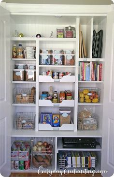 DIY AMAZING ! Little to No Cost Organized Built in Pantry !! Complete Storage Solution for little cost and less effort !!!