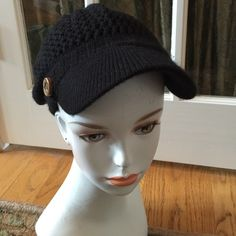 RUBBISH BRAND KNIT BLACK HAT Adorable hat Rubbish Accessories Hats