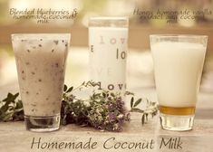 Homemade Coconut Milk - Two Ways