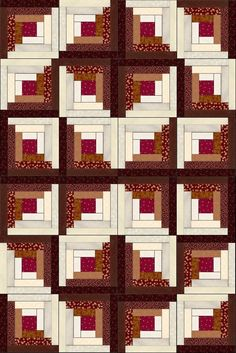 Russet Mahogany Cherry Pre-Cut Fabric Quilt Kit