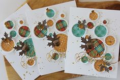 Nichol Spohr LLC: Simon Says Stamp October 2016 Card Kit   Autumn Blessings Die Cut Cards