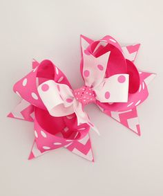 Look at this Hot Pink Funky Boutique Hair Bow on #zulily today!