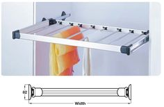Wardrobe Pull Out Trouser Rack for Cabinet Width 400-1000 mm