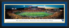 West Virginia Mountaineers Panoramic - Milan Puskar Stadium Picture $199.95