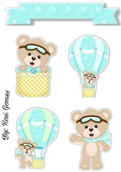 Topper bolo Baby Shawer, Baby Mine, Baby Art, Scrapbook Bebe, Baby Scrapbook Pages, Bear Theme, Bear Party, Digital Stamps, Baby Birthday