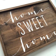 Home sweet home sign rustic wood sign wood decor by FreestyleMom