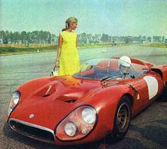 Alfa Romeo 332 'mugello' 1967..that means thet the girl in the photo is 88 years old...