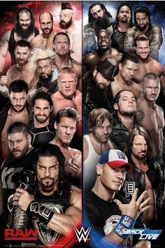 WWE Raw v Smackdown Maxi Poster