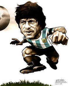 Daniel Alberto Passarella (Argentina 1978) Zero Hora/Brasil - World Cup caricatures by Gonza Rodriguez, via Behance