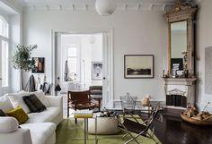 Gravity Home: Historic Home in Gothenburg Living Room Decor, Bedroom Decor, Scandinavian Apartment, Scandinavian Living, Gravity Home, Piece A Vivre, Interior Decorating, Interior Design, Contemporary Decor