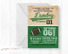 Tailgate Football Birthday Invitation  Sports by PaperclutchShop