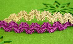 Macrame Flower Lace Bracelet Tutorial