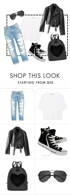 """""""Weekend"""" by indiemess1 ❤ liked on Polyvore featuring Vince, Jean-Paul Gaultier, Converse and Yves Saint Laurent"""