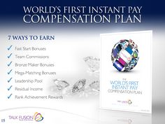 Ways Talk Fusion Pays.!!!
