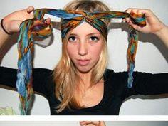 Mettre et porter un foulard en turban - par accessoirescheveuxchic