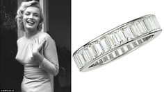 Marilyn's platinum and baguette diamond eternity band.