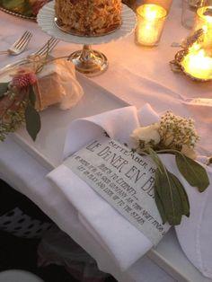 Diner en Blanc. White table setting.  Diner en Blanc. San Diego