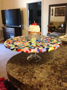 My Kaleidoscope Heart: DIY Cake Plate Made With Pony Beads