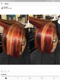 Hairstyles Step By Step .Hairstyles Step By Step Baddie Hairstyles, Girl Hairstyles, Relaxed Hairstyles, Feathered Hairstyles, Weave Hairstyles, Cute Hair Colors, Cool Hair Color, Dyed Natural Hair, Natural Hair Styles