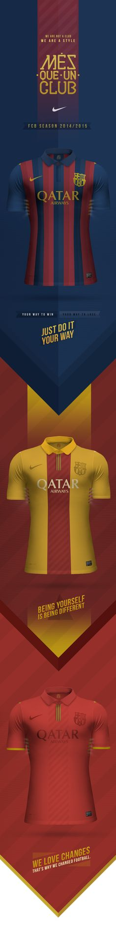 Barcelona FC - Concept by E S, via Behance