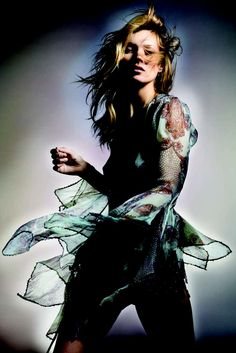 Kate Moss in one of the looks from her Kate Moss for Topshop collection. [Photo by Nick Knight]