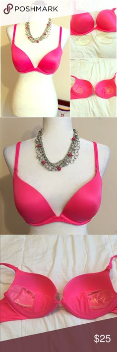 Victoria's Secret Very Sexy Push-Up Bra Victoria's Secret Very Sexy Push-Up Bra   Size: 38C  in great condition. Adjustable removable straps and liquid packets for extra fuller look. I never used the packets. The mannequin is shown without it.  Vibrant pink. Victoria's Secret Intimates & Sleepwear Bras
