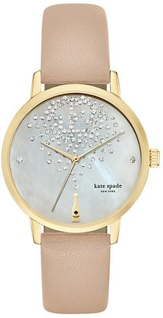 Kate Spade Champagne at midnight metro watch