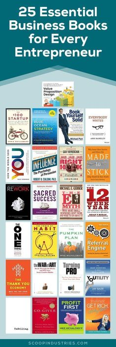 If you& running your own business you certainly don& have time to run out and get an MBA or take 10 different online courses. Instead, check this list of business books for entrepreneurs. Check out our 25 & read& business book suggestions. Entrepreneur Books, Inspiration Entrepreneur, Business Entrepreneur, Starting A Business, Business Planning, Business Tips, Online Business, Business School, Business Education