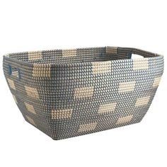 Woven of seagrass with cutout handles on both ends, our all-purpose basket is as pretty as it is useful. Tastefully designed with a modified… Wicker Shelf, Wicker Baskets, Wood Company, Dream Beach Houses, Living Room Remodel, Basket Decoration, Storage Baskets, Storage Ideas, Things To Buy