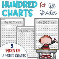 Hundred Charts FREEBIE for All Grades by Enriching Young Minds and Hearts