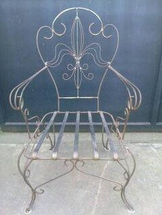 Sillón (flor de liz) Twin Full Bunk Bed, Iron Furniture, Wrought Iron, Metal Working, Upholstery, Woodworking, Stove, Table, House