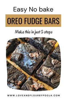 Your kids love Oreo biscuits? Wanna make an easy snack for them at home? Make this No-Bake Oreo Fudge Bars, a simple biscuit fudge that doesn't need an oven or any fancy equipment to make. All you need is few Ingredients like Chocolate Chips/Chocolate Chunks, Condensed Milk, Oreo Cookies & butter. You can make this recipe in just 5 steps, read the blog for the full recipe. Best Chocolate, Chocolate Flavors, Melting Chocolate, Chocolate Chips, Oreo Cookie Butter, Oreo Cookies, Easy No Bake Desserts, Easy Baking Recipes, All You Need Is