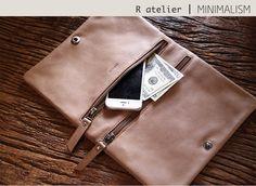 $92.00 | Handmade Leather Foldover Clutch Bag | Versatile Chic Clutch #leatherclutch #clutchbag #fashionaccessories #gifts