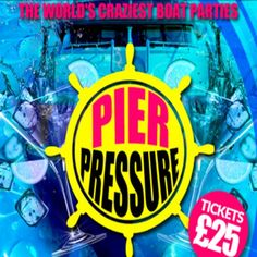 Pier Pressure Boat Party II - August Bank Holiday Sunday! Victoria Embankment, London, EC4Y 0HJ, UK on Aug 30, 2015 to Aug 31, 2015 at 7:30pm to 3:00am. It's time for round two - Sunday August 30th - The August bank holiday Sunday   Pier Pressure sets sail Bank Holiday Sunday for an Epic 3 Hour Voyage down the London Thames. URL: Tickets: http://atnd.it/23417-1 Category: Nightlife, Prices: Standard tickets £25, Early bird £15, Artists: Pier Pressure DJ's