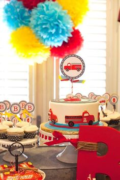 Firetruck, Fire Engine, Fireman Birthday Party Ideas | Photo 4 of 21 | Catch My Party