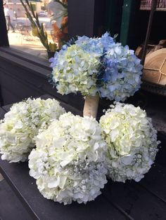 Hydrangea bouquets for Chelsea