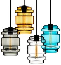 various colors, including solid white -- Niche Modern Delinea Pendant Light Modern Pendant Light, Glass Pendant Light, Pendant Lighting, Pendant Lamps, Pendants, Home Lighting, Modern Lighting, Lighting Design, Overhead Lighting