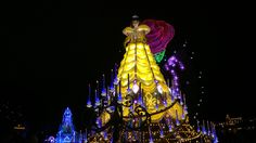 Disneyland paint the night parade ! Princess belle is stunning