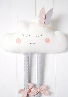 Cloud Pillow Cloud cushion Pillow Cloud Plush Happy by Jobuko