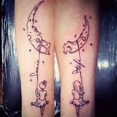 Sharing the Moon and Stars: Lettering Soul Sister Tattoo #SisterTattooIdeas