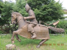 ancient korea(Gaya), a royal tomb , dynasty Kim suro // 가야 철갑 개바 무사